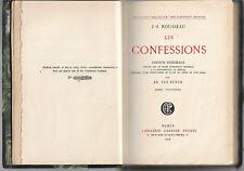 Rare antique book Les Confessions by J J Rousseau 1926 limited edition no 27 vgc