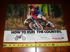 1986 HONDA XR250R - ORIGINAL 2 PAGE AD