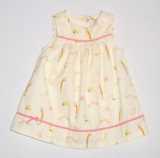 "Gymboree ""Garden Friends"" Vntg Caterpillar Snails Ivory Corduroy Dress, 9-12 mos"