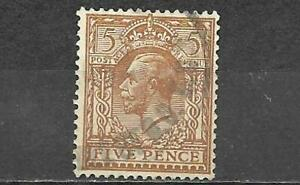 Great Britain Stamp King George V 5 Pence Used