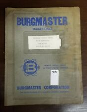 New listing Burgmaster Hydraulic Service Manual