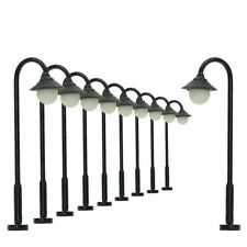 LYM25 10pcs Model Railway Train Lamp Post Street Lights N TT Scale LEDs NEW