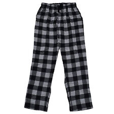 $70 BUFFALO DAVID BITTON Men PAJAMAS LOUNGE PANTS Black Gray Flannel SLEEPWEAR S