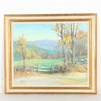 Impressionist Listed Artist George Dinckel Oil on Board Autumn Landscape Conway