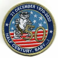 F-14 TOMCAT ASSOCIATION 50TH ANNIVERSARY HALF CENTURY BABY EMBROIDERED PATCH