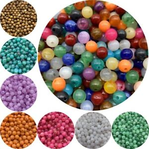 6mm/8mm/10mm Beads Loose Round Charms Acrylic Pearl Spacer Jewelry Making DIY