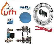 water underfloor heating 2 port 200m kit up to 40m2 with Digital A rated pump