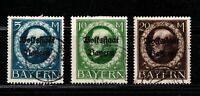 "Bavaria stamps #153-155, used, full set,  Overprint ""b"", SCV $149.25"
