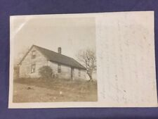 Aging cottage real photo postcard