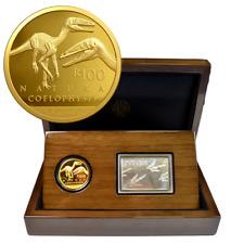 Südafrika 2018 - Natura Launch - Archosaurier - Prestige Set - 1 Oz Gold PP