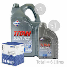 Engine Oil and Filter Service Kit 6 LITRES Fuchs TITAN SYN MC 10w-40 6L