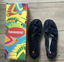 Havaianas Origine II de la Mujer Azul Marino Lona Zapatos Talla 8W/7M