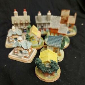 1995 Lyons Tetley Ltd 9 Miniature Cottages/Houses. Nephews school, cake shop....