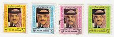 Jordan - 1987 - SC 1291-94 - Used/H - Complete set - King Hussein - 1294 H