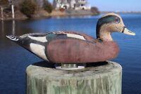 Vintage Widgeon Drake Hand Carved Wood Duck Decoy