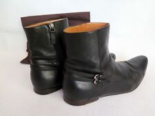 GUCCI Zip Up Black Leather Chelsea Ankle Boots Shoes UK 9.5 / US 10 / EU 43.5