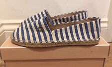 MICHAEL KORS Kendrick Espadrilles Blue/Cream Stripe​ UK 5.5 EU 38.5