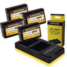 Dual Ladegerät PATONA + 4x Akku für Sony NP-FW50 Alpha 5000 6000 Alpha 7 NEX-7
