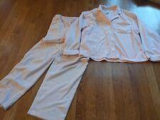 Eileen West Pajamas Set Small Pink Fleece Button Up Soft Fuzzy Cozy