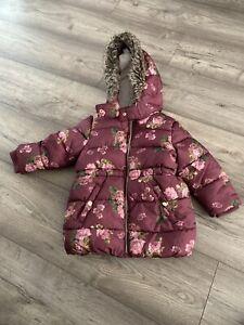 Primark Girls Winter Jacket  Coat 18-24 Mounts 92 Cm Height
