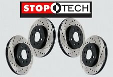 [FRONT + REAR SET] STOPTECH Cross Drilled Brake Disc Rotors STS21574
