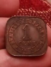 1925 Straits Settlement 1 cent KM# 32 one George V British India bronze 19oct