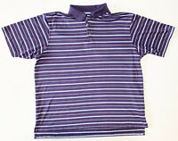 Adidas Climacool Golf Polo Shirt Men's XL Short Sleeve Purple Blue Polyester