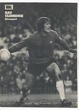 RAY CLEMENCE LIVERPOOL 1969-1981 ORIGINAL HAND SIGNED MAGAZINE PICTURE CUTTING