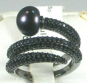 RARITIES BLACK SPINEL WRAP RING - SIZE 7 - RETAIL $99
