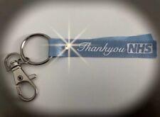 Thankyou NHS Crystal Blue Ribbon Key ring/ Chain, 4 Bags, Keys & More Donate ❤️