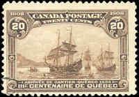 Used Canada 1908 20c F+ Scott #103 Quebec Tercentenary Issue Stamp