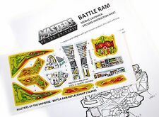MOTU Masters of the Universe replacement stickers for BATTLE RAM  'DIE CUT'!!!!!