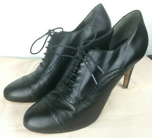 Cole Haan Oxford Air Heel Lucinda Black Leather Pump Size 10 B Lace Up