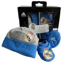 Adidas Real Madrid Gris Azul Sombrero de arranque de los Niños Fútbol Set De Regalo En Caja d85865