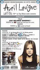 AVRIL LAVIGNE LET GO PLAN MEDIA french PRESSKIT promo advert