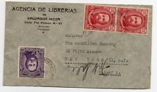Paraguay 1950 registered letter to NY