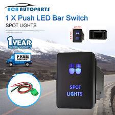 Toyota Landcruiser Spot Lights Push Switch Prado 150 200 RAV4 Blue 12V ON OFF