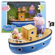 New Peppa Pig Grandpa Pig's Floating Bathtime Boat Playset & Figures Official