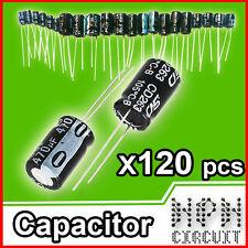 KIT CONDENSATORI Elettrolitici X120 PEZZI 12 Valori 50V 25V 16V