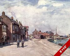 WELLS NEXT THE SEA ENGLAND ENGLISH LANDSCAPE ART PAINTING REAL CANVAS PRINT