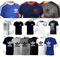 ADIDAS ORIGINAL MEN'S CALIFORNIA TREFOIL GRAPHIC RETRO CREW NECK TEES (S M L XL)
