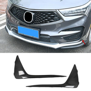 Fit for Acura RDX 2019-2021 Carbon Fiber Front Fog Light Lamp Strip Trim 2pcs