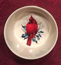LENOX WINTER GREETINGS DIP BOWL RED CARDINAL. NEW-NO BOX. CHRISTMAS HOLIDAY