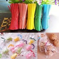 Clear Cellophane Cone Bags Twist Ties Large size Party Sweet Cones Cello Candy