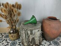 Vintage Enamel Green Funnel With black rim 1960s