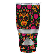 Skin Decal for Ozark Trail 30 oz Tumbler Cup (6-piece kit) / Dia de Los Skulls