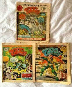 3 x 2000AD Prog 232, 236 & 237 ~ 1981 UK COMICS FEATURING JUDGE DREDD 2000 ad