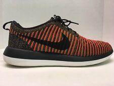 f0afa3f82985 Nike Roshe Two Flyknit 2 mens sneakers black max orange 844833-009 Rare  Shoes SF