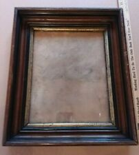 Antique Gilt Eastlake Wood Picture Frame 14x12 overall - 10x8 inside Wavy Glass