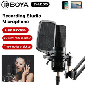 DHL BOYA BY-M1000 Condenser Microphone Kit Mic for Studio Broadcast Live Vlog